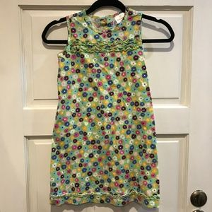 Hanna Andersson Girls 8 Green Floral Dress